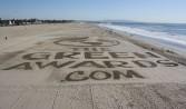 Beach rake logo by peter vogelaar, green awards beach 2011