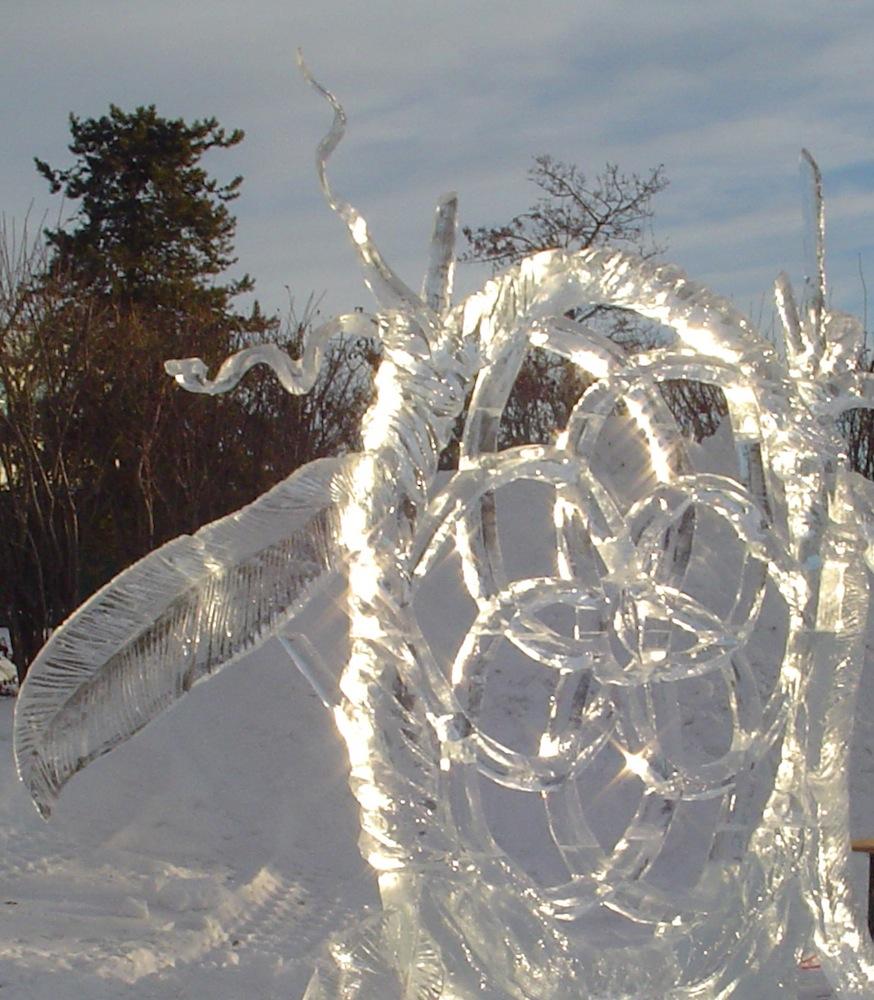 Dream Catcher Calgary sculptureducharmesnowiceDream catcher 40nd place High on Ice 39
