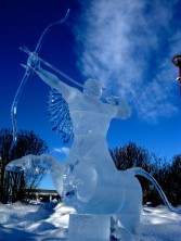Centaur sculpted by David Ducharme and Jesse Forrester, 3rd place, High on Ice Fort St- John BC, 2011