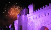 Jack Frost fireworks over castle, 2008