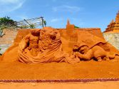 Puss in boots sculpted for sandart vietnam